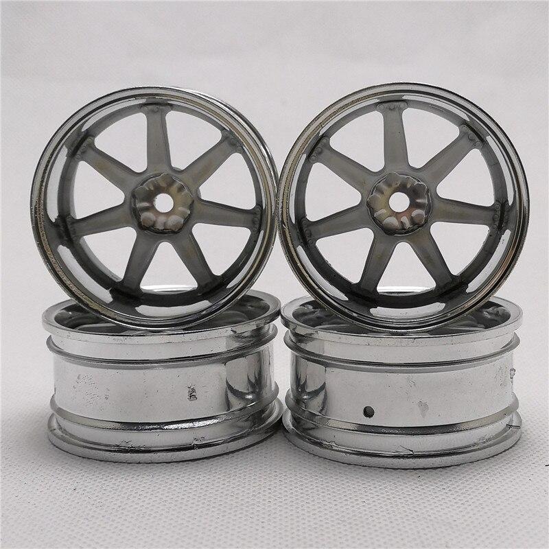 4 Uds RC ruedas de plástico para coche 1/10 en derrape en carretera gira 3/6/9mm Offset