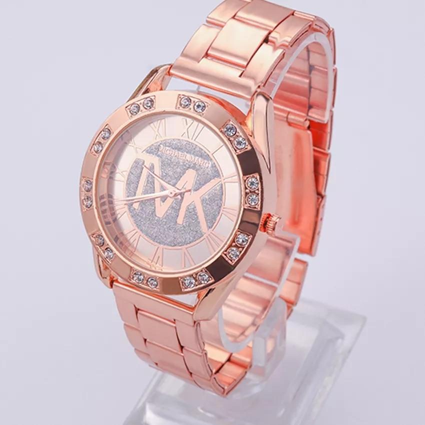 New Luxury Brand Roman Numerals Quartz Watch Women Fashion Rhinestone Dress Watches Stainless Steel