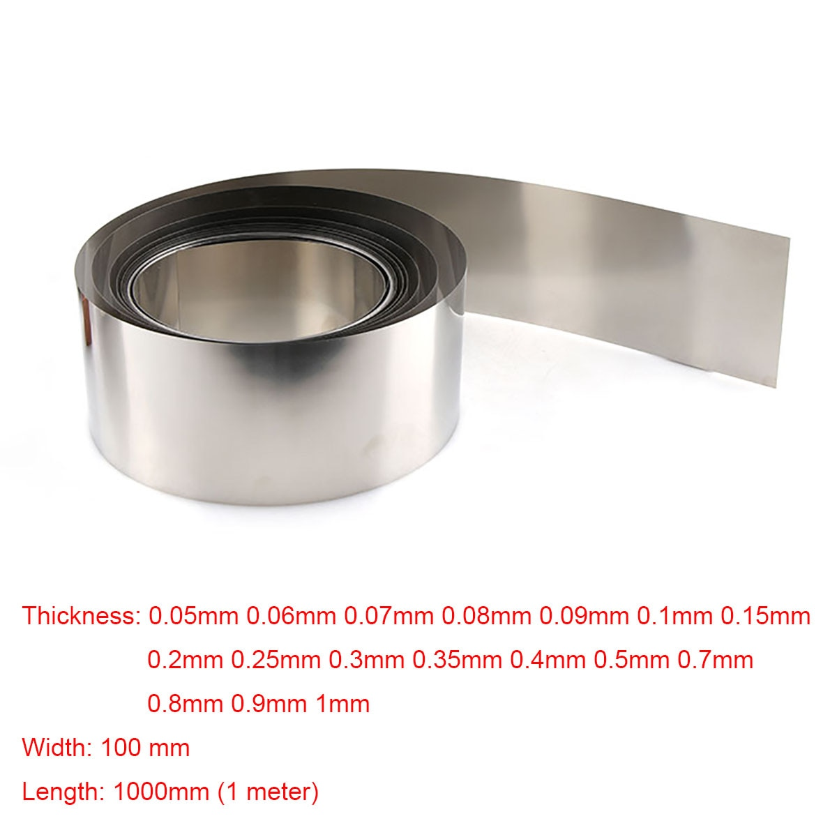 customized authentic 304 321 316 stainless steel col rolled bright thin foil tape strip sheet plate coil roll 1pcs 100x1000mm 304 Stainless Steel Foil Strip Sheet Thin Plate Thickness 0.05/0.06/0.07/0.08/0.09/0.1/0.15/0.2/0.25/0.3 -1mm