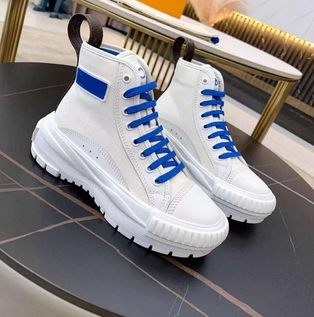 الموضة الفاخرة أحذية النساء أحذية رياضية منصة مصمم الأبيض قماش و العجل أحذية من الجلد عادية عالية أعلى تنيس feminino