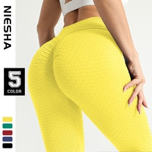 Peach hips moisture absorption and sweat wicking jacquard bubble pants sports fitness pants sexy hip