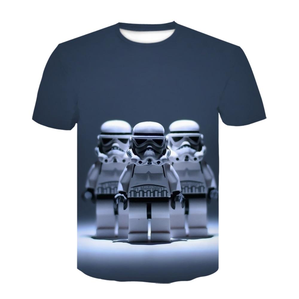 Cosplay Virgen María Jesús hombres camiseta película Star Wars camisa 3D impresión Casual Robot La mandaloriano camiseta Yoda bebé Tops