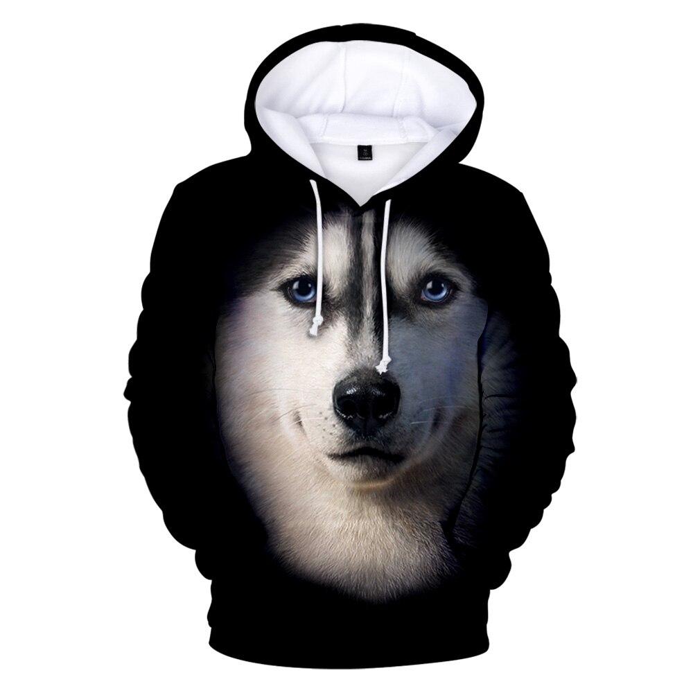 Husky 3D hoodie sweatshirts in männer/frauen Harajuku design hohe qualität pullover kinder lustige herbst warme beliebte mode kleidung