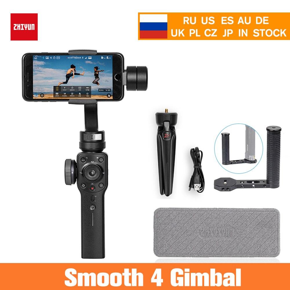 3-осевой Ручной Стабилизатор Zhiyun Smooth 4 для iPhone X 8 7 Plus 6 Plus samsung Galaxy S8 + S8 S7 S6 S5,Smooth 4
