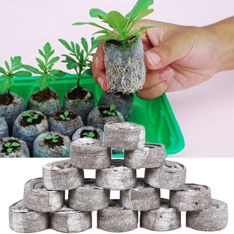 Alta calidad 10 unids/lote de plántulas de productos 30mm turba Pellets profesional jardín suministros comprimir de plántulas de Popular