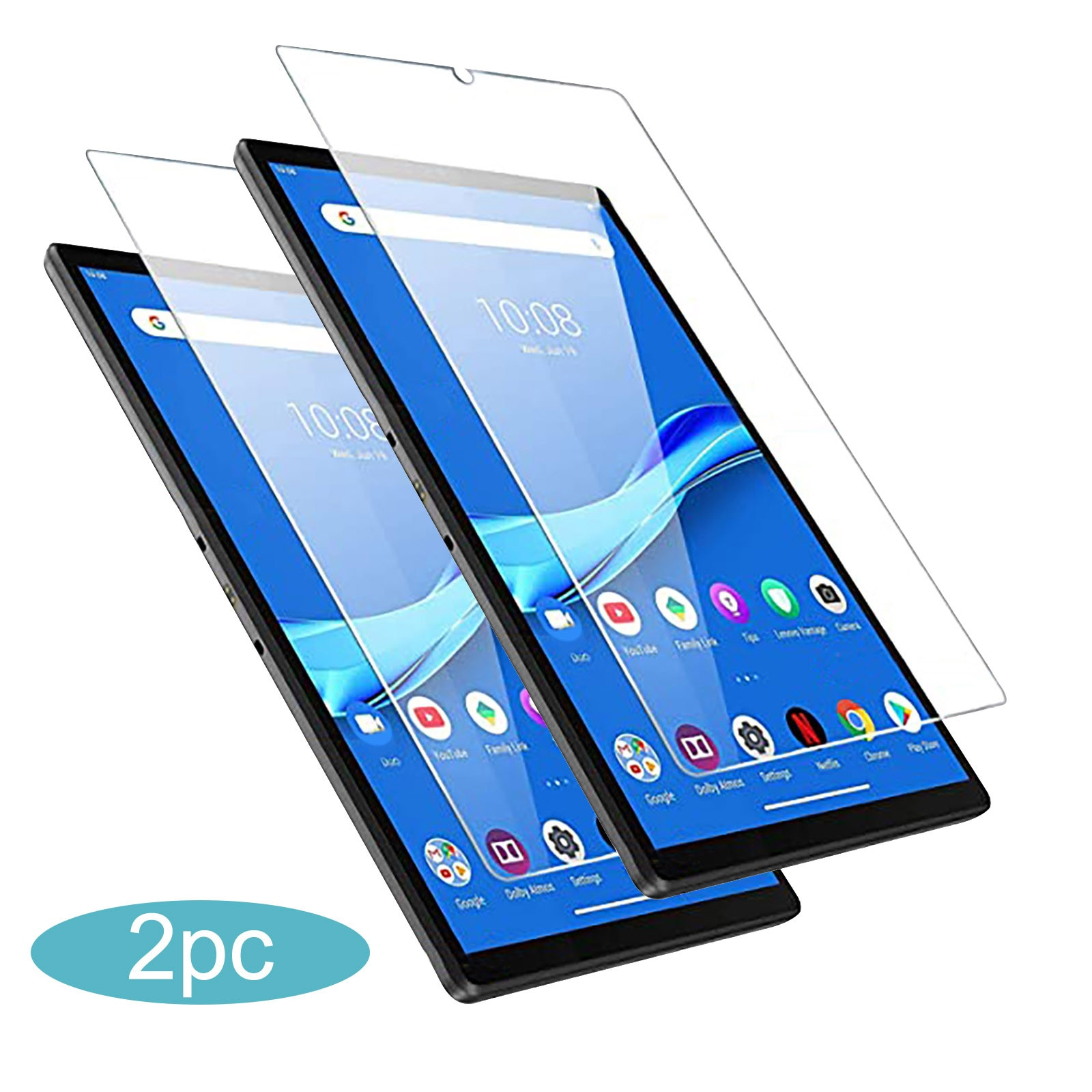 2P Bubble-Free Full Cover Tempered Glass For Lenovo Tab M10 10.1 TB-X605F/TB-X505F/TB-X605FC/TB-X605L/TB-X605LC Screen Protector