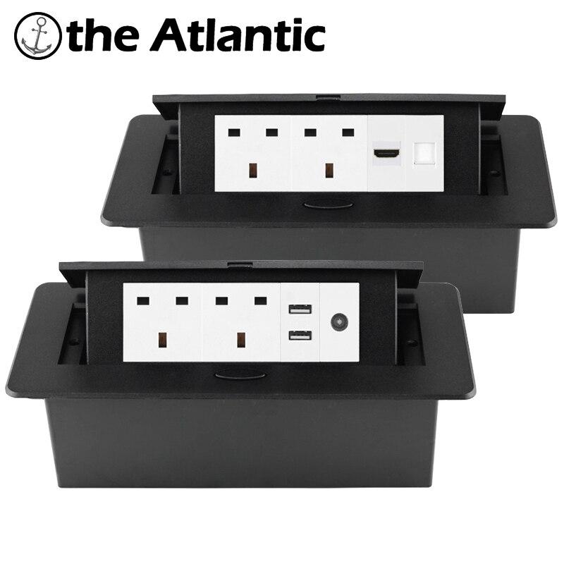 المملكة المتحدة سطح المكتب المقبس راحة قطاع الطاقة المقبس USB RJ45 TV HDMI سطح المكتب المنبثقة الجدول المخرج المدمج في المقبس 13A مالطا أيرلندا