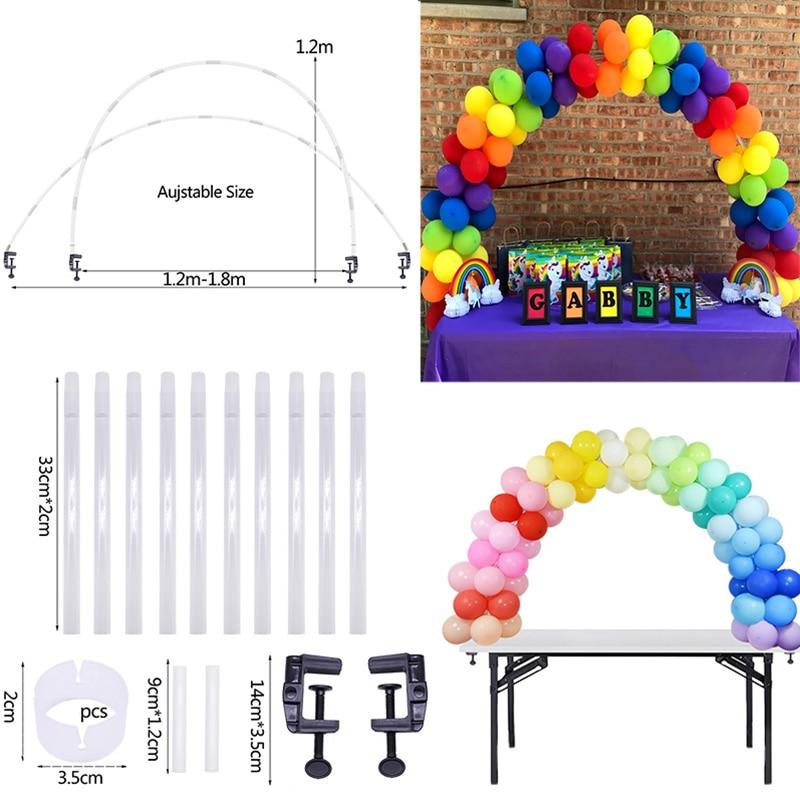 Arco de globos soporte marco Base de cumpleaños soporte de globos globo para columna cadena para fiesta de boda cumpleaños decoración de la ducha de bebé