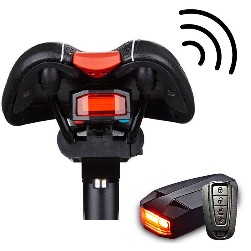 Alarma de seguridad para bicicleta antirrobo Control remoto inalámbrico Alerter luces traseras bloqueo impermeable lámpara de bicicleta accesorios de bicicleta ZH65