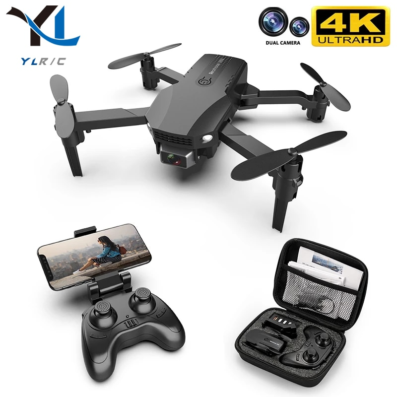 New R16 drone 4k HD dual lens mini WiFi 1080p real-time transmission FPV follow me Foldable RC Quadcopter toy