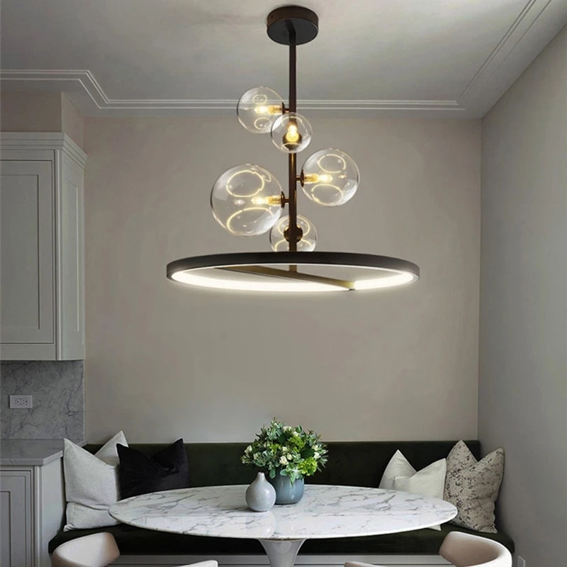 American Restaurant Bubble Lamp Modern Minimalist Personality Bar Counter Clothing Store Commercial Chandelier Dining Table Lamp creative personality american restaurant chandelier lamp romantic cafe bar iron chandelier retro wind industry zzp727pp