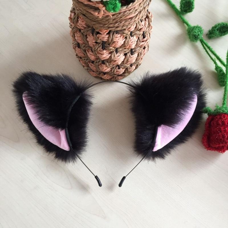 1Pc Cartoon Cat Ears Hairband Headwear Sexy Long Fur Head Band Hair Accessories For Women Girls Kid