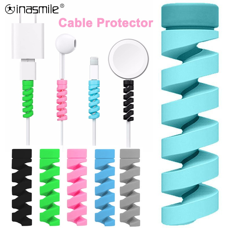 2-10Pcs Charging Cable Protector For Phones Cable holder Cover cable winder clip For USB Charger Cord management cable organizer