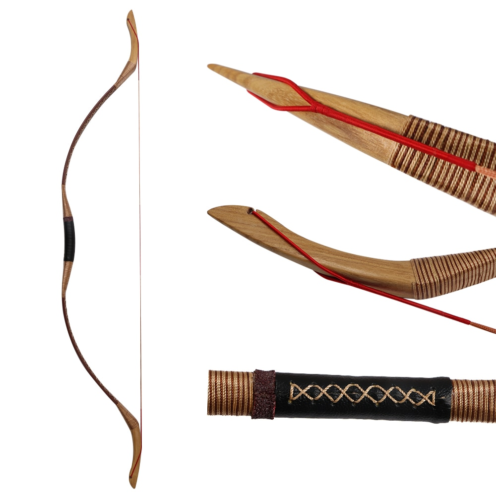 Toparchery Hunting Bows 30-55lbs Traditional Horse Bow Target Shooting Longbow for Outdoor Sports