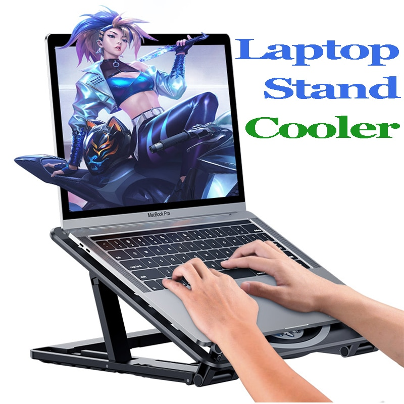 Suporte do portátil para macbook huawei dell computador portátil cooler almofada de refrigeração para pc gamer suporte 2 fangaming cooler para portátil titular