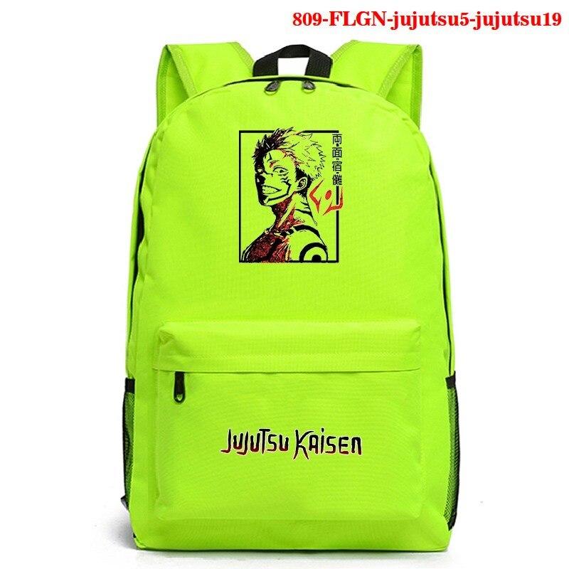 Schoolbag Anime Jujutsu Kaisen Pattern Backpack Mochila Laptop Rucksack Travel Bag Bookbags for Students Boys Girls Mens Bookbag