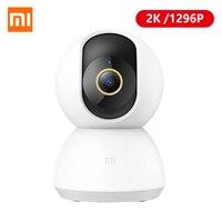 Умная IP-камера Xiaomi Mijia, 2K, 1296P, угол 360 градусов, Wi-Fi, ночное видение радионяня Mi Home экшн-камера для дома
