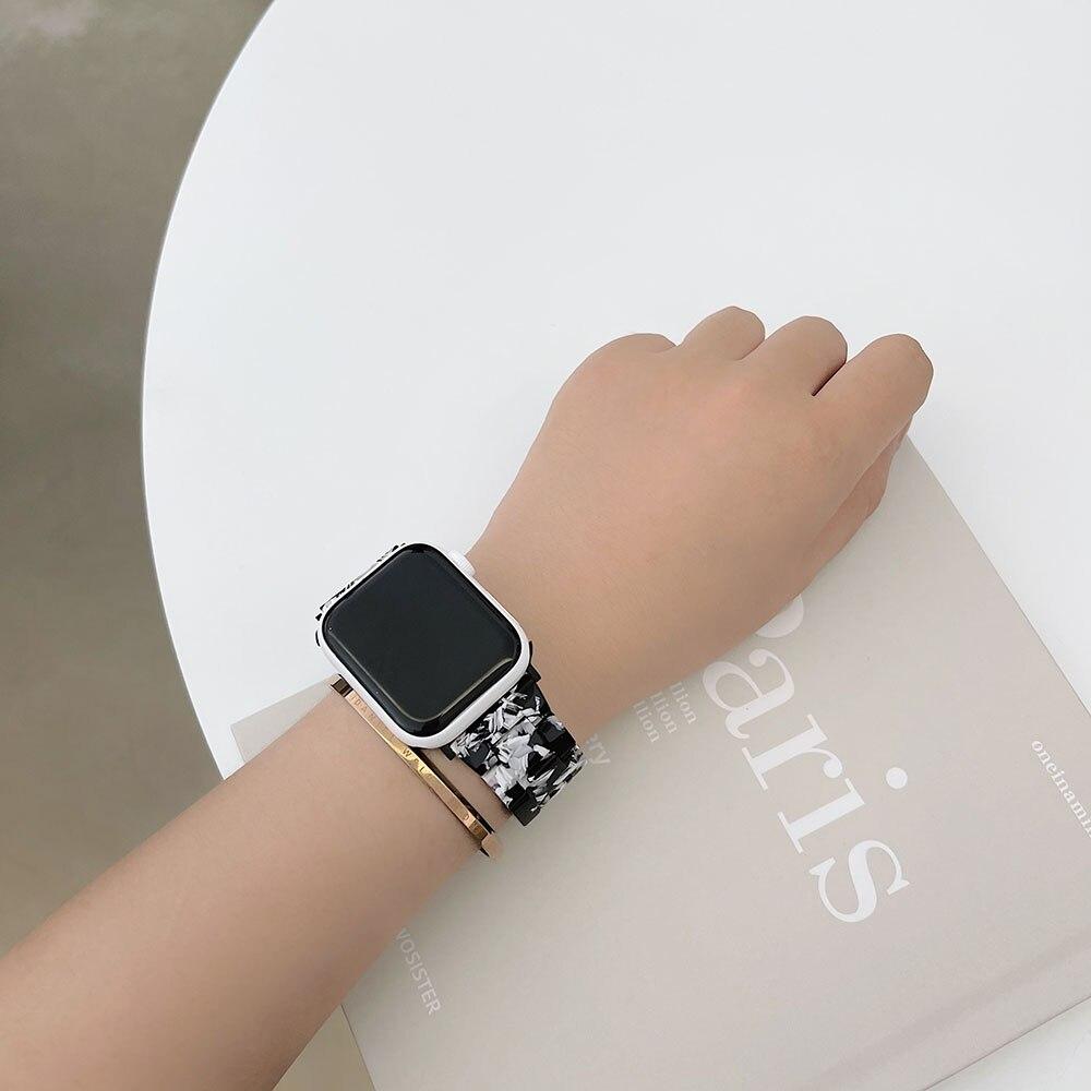 Ремешок резиновый для Apple Watch 38 мм 40 мм, сменный Браслет для наручных часов iwatch Series 5 4 3 2 1 42 мм 44 мм