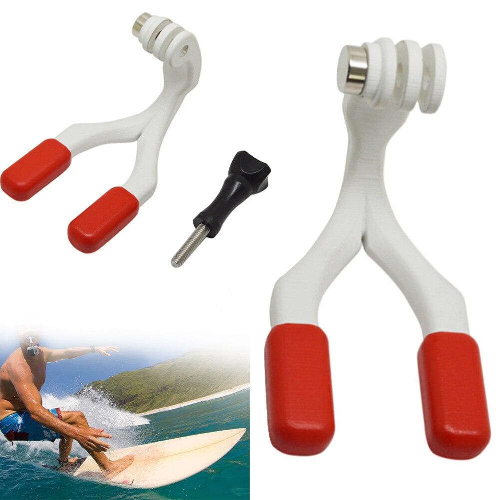 Portátil fácil aliento Durable Surf soportes conector Snowboard boca conjunto de montaje PC rojo morder Surf ligero para Gopro héroe
