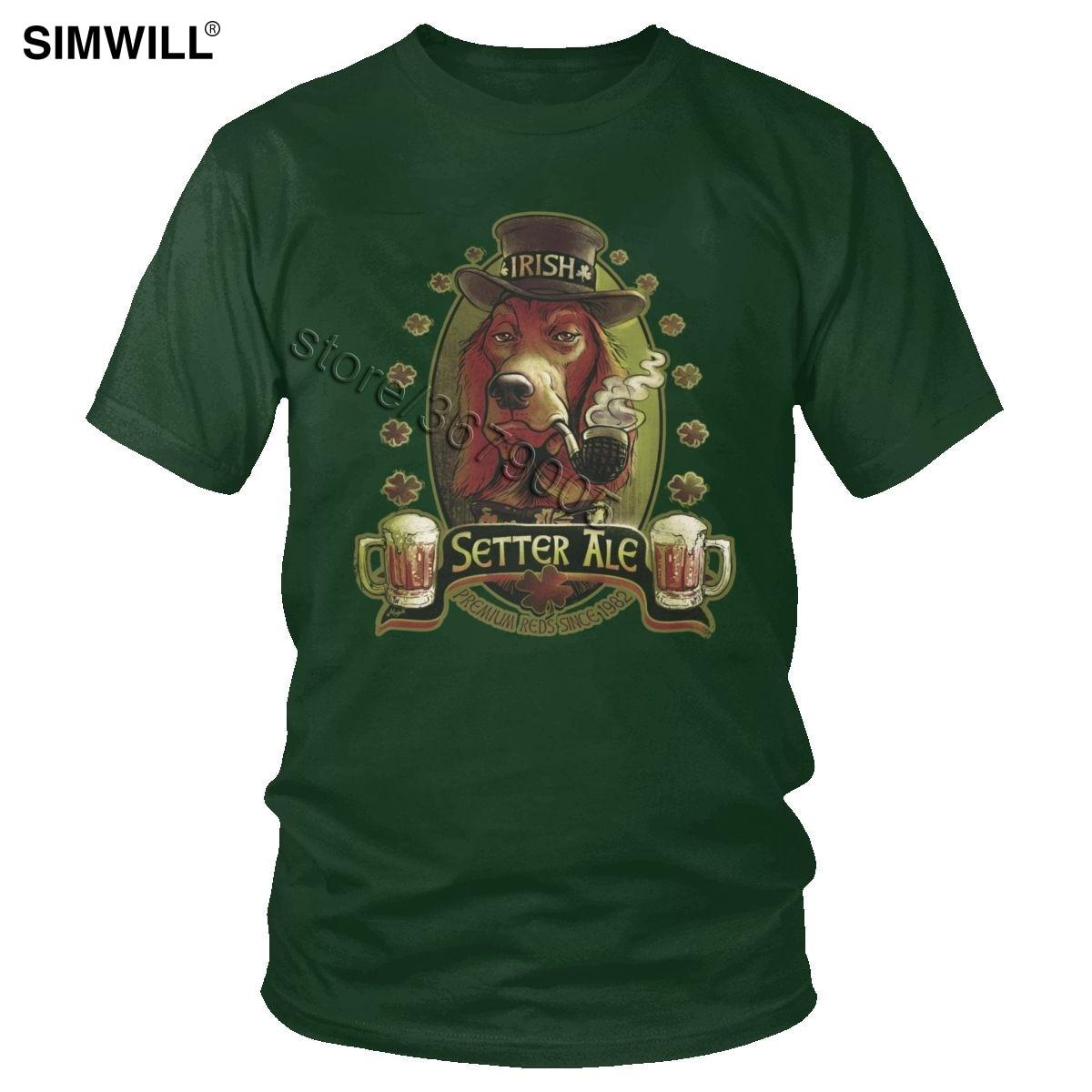 Nueva llegada de moda Camiseta de algodón para hombres, Camiseta de algodón para amantes de la cerveza, cerveza roja, para amantes de la cerveza, camiseta de manga corta