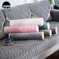 Защитный чехол для дивана в гостиную, однотонный эластичный чехол для дивана, подушки, покрывала для кушетки, плотные Плюшевые Чехлы для сту...