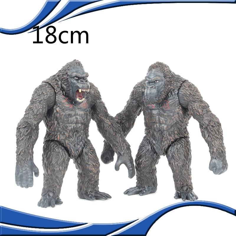 18cm Godzilla Vs King Kong Skeleton Skull Island Gorilla Monsters Anime Action Figure Assembled Model Toys Kids Hallloween Gift