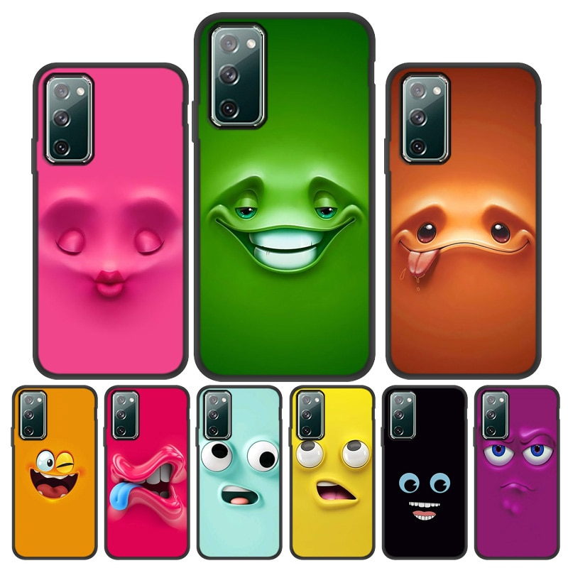 AliExpress - Smile Phone Case For Samsung S21 Ultra S20 Plus Case Funny Face Cases For Samsung S20 FE S10 S9 S8 S7 Note 20 10 9 8 Cover Funda