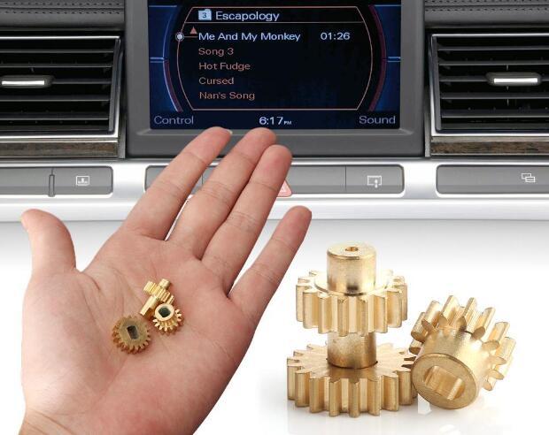 3 uds./set Kit de reparación de engranajes de pantalla de extensión de cobre 3 uds para Audi A8 S8 MMI mecanismo 4E0857273D ajuste 2003-2010