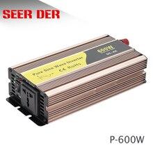 Onduleur de climatiseur psw   Grille hors réseau, fréquence Variable 600w 12v 24v à 220v, onde sinusoïdale pure