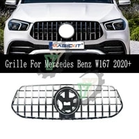 car front bumper racing grille gt r grille for mercedes benz gle class w167 suv 4matic gle300 gle350 gle400 gle450 2020