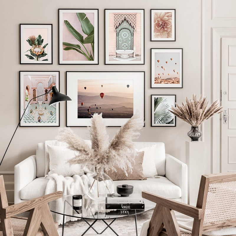 Cartel de decoración de Arte de diseño moderno con paisaje de arquitectura marroquí, lienzo de calidad, pintura para decoración del hogar, cuadro de decoración de pared de salón A878