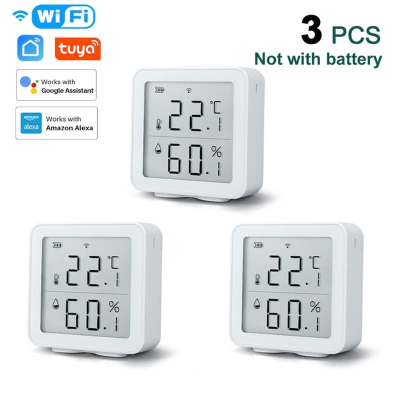Tuya WIFI Temperature And Humidity Sensor Indoor Hygrometer Thermometer Detector Support Alexa Google Home Smart Life Smart Home
