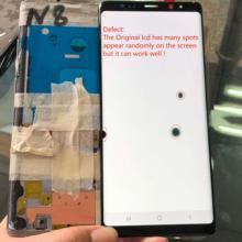 Super Amoled con marco de muchos puntos LCD para Samsung Galaxy Note 8 LCD N950 SM-N950F LCD pantalla táctil digitalizador Asamblea