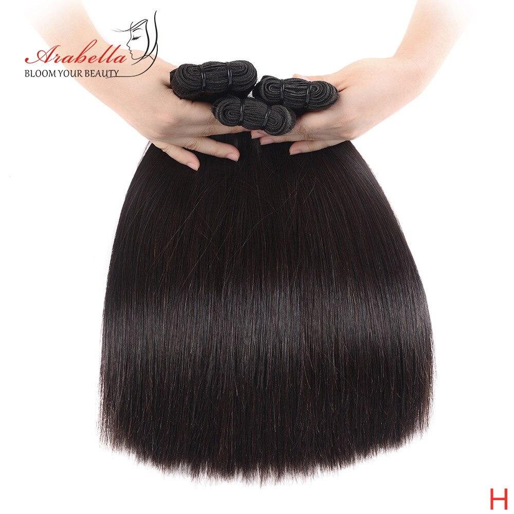Extensiones de Cabello recto de doble estiramiento Vrigin extensión de cabello de Color Natural de extremos gruesos paquetes de cabello para el cliente de alto nivel
