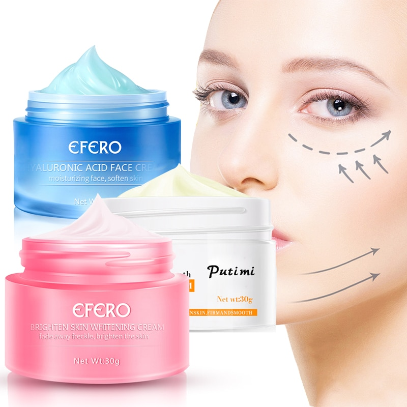 Snail Face Cream Moisturizing Anti-oxidation Acne Freckle Removal Anti Wrinkle Aging Whitening Skin Care 30g