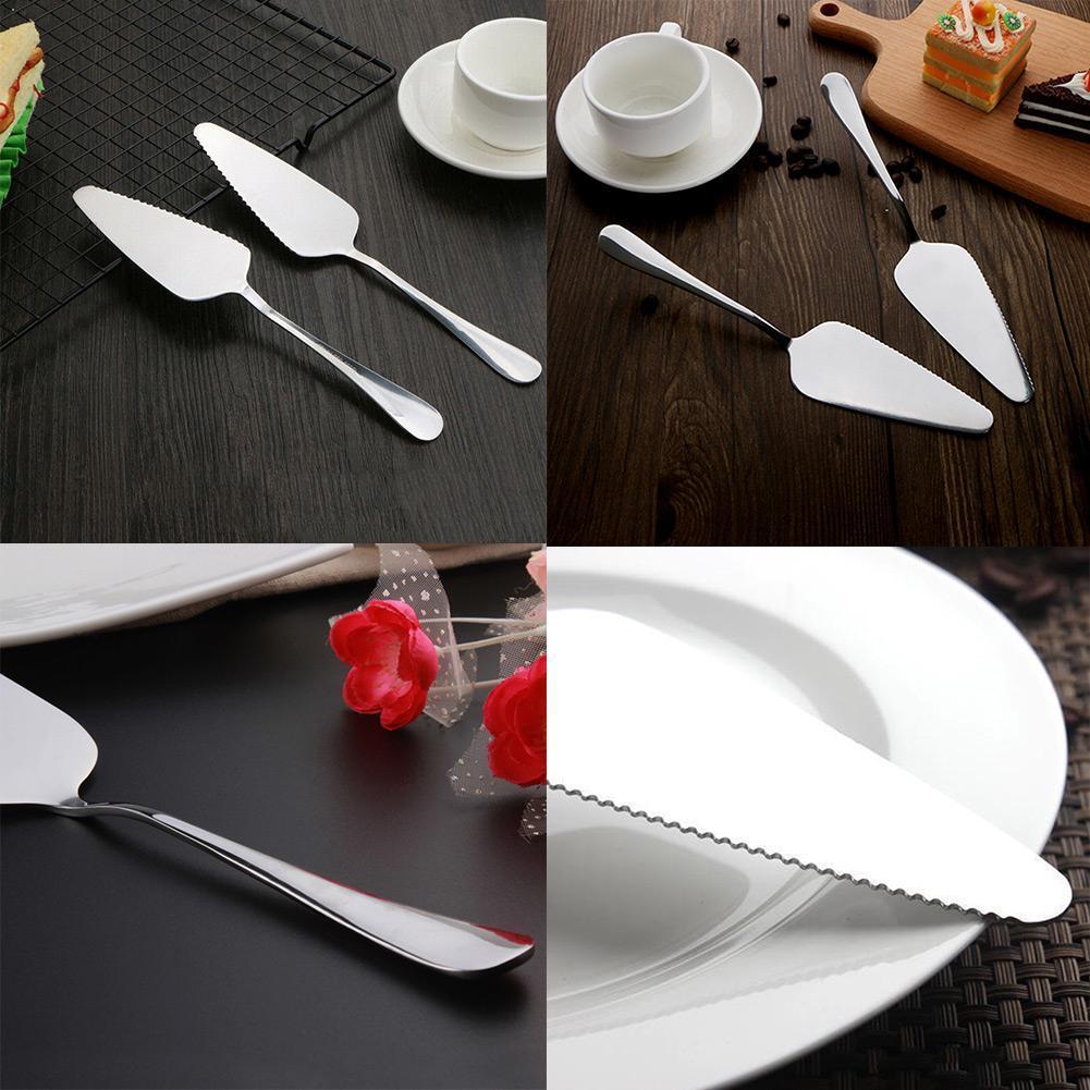 Pala Triangular dentada de acero inoxidable para Tartas, pala para Tartas, herramienta para hornear helados, Pizza, utensilio para hornear, utensilios para hornear, cocina, Knif H6N7