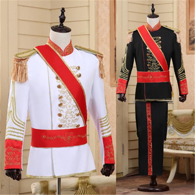 Vestido de corte europeo, disfraz de oficial de guardia, uniforme de Marshall, guardia de honor para espectáculos de teatro y espectáculos de cine
