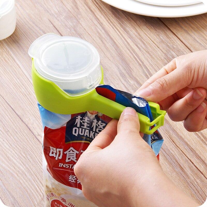 2 uds multifuncional Clip para sellado de alimentos preservación bolsa de almacenamiento...