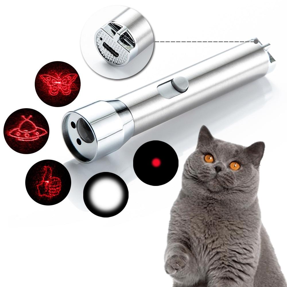 Pluma láser de carga USB Para Gatos, linterna de garrapatas, rompecabezas, Gato,...