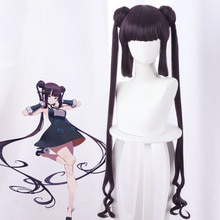 High Quality The Imperial Concubine Yang Cospaly Deep Purple Long Hair Halloween  Cosplay Wig + Wig