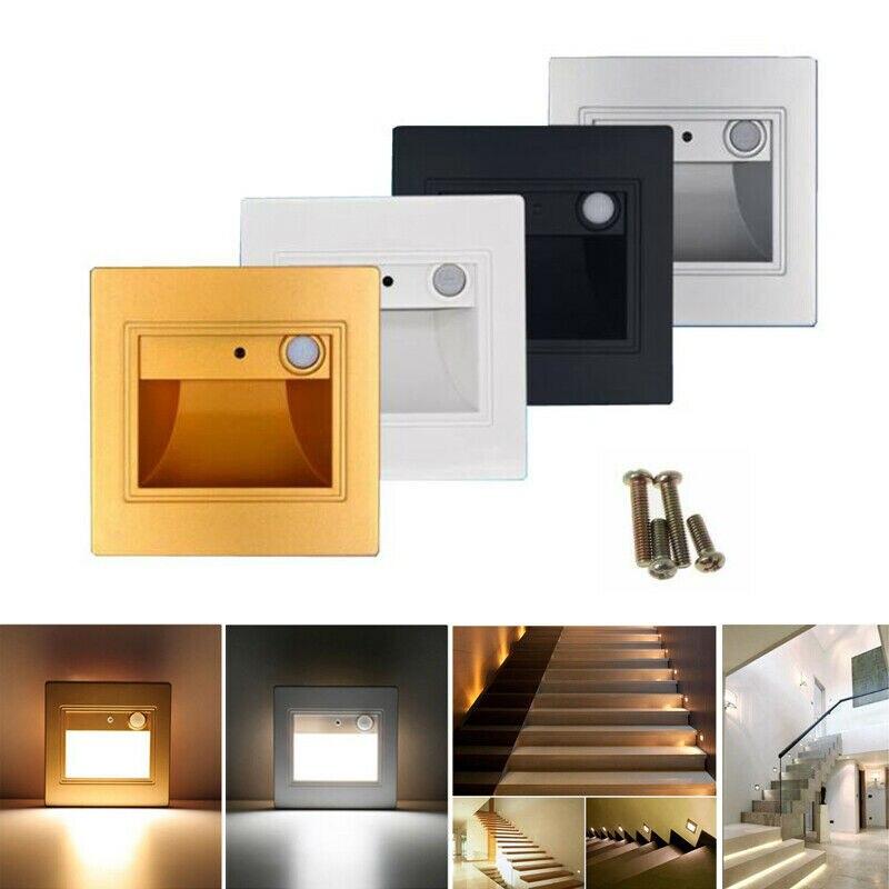2x2,5 W PIR Sensor de movimiento Luces De pie LED escalera paso de luz de pared lámpara de decoración interior pasillo de Hospital