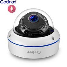 Gadinan 5MP 4MP Security 2.8mm Wide Angle CCTV Outdoor Audio Dome Surveillance IP Camera Night Visio