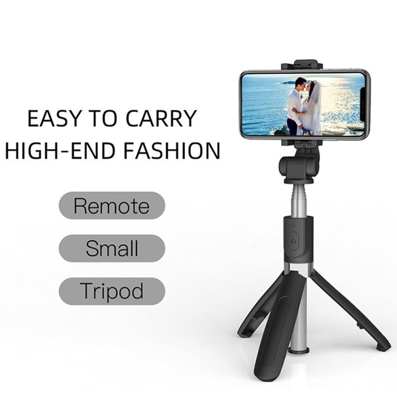 ZK30 4 in 1 Universal Bluetooth Wireless Selfie Stick Extendable Monopod Foldable Tripod With Remote Phone holder For Android