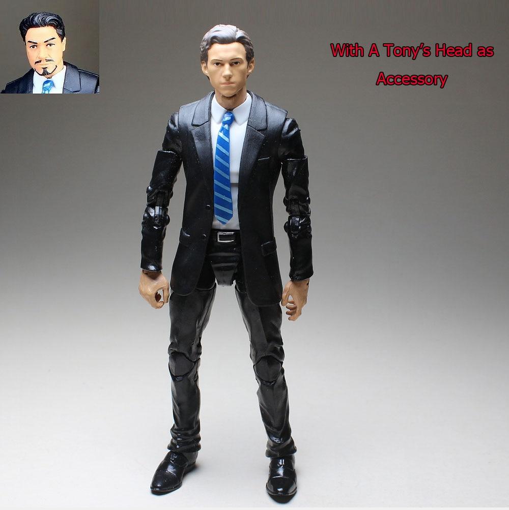 Marvel Legends Spiderman Tom Holland Sculp Suited Body W/ Tony Stark Head Figure