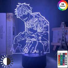 3d светодиодный Ночной светильник, Токийский Гуль Кен канеки, акриловый маленький светильник для чтения, декор комнаты, светильник, Аниме по...