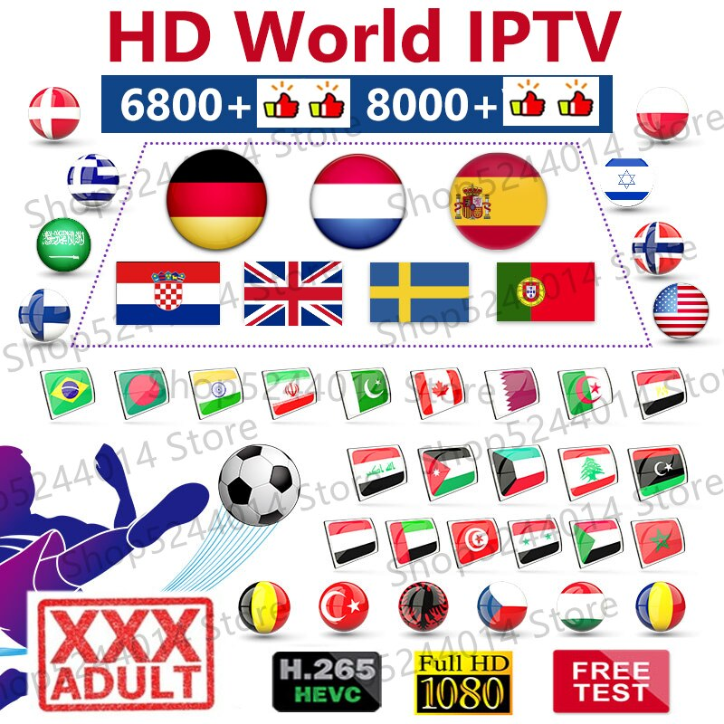World adult iptv 7000+ Spain Arabic Dutch sweden europe german swiss ex yu adult xxx iptv m3u for iptv box smart tv pc phone