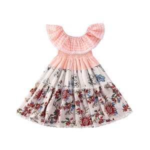 Toddler Kid Baby Girl 6M-5T Sleeveless Dress Lace Ruffle Party Princess Dress Clothes