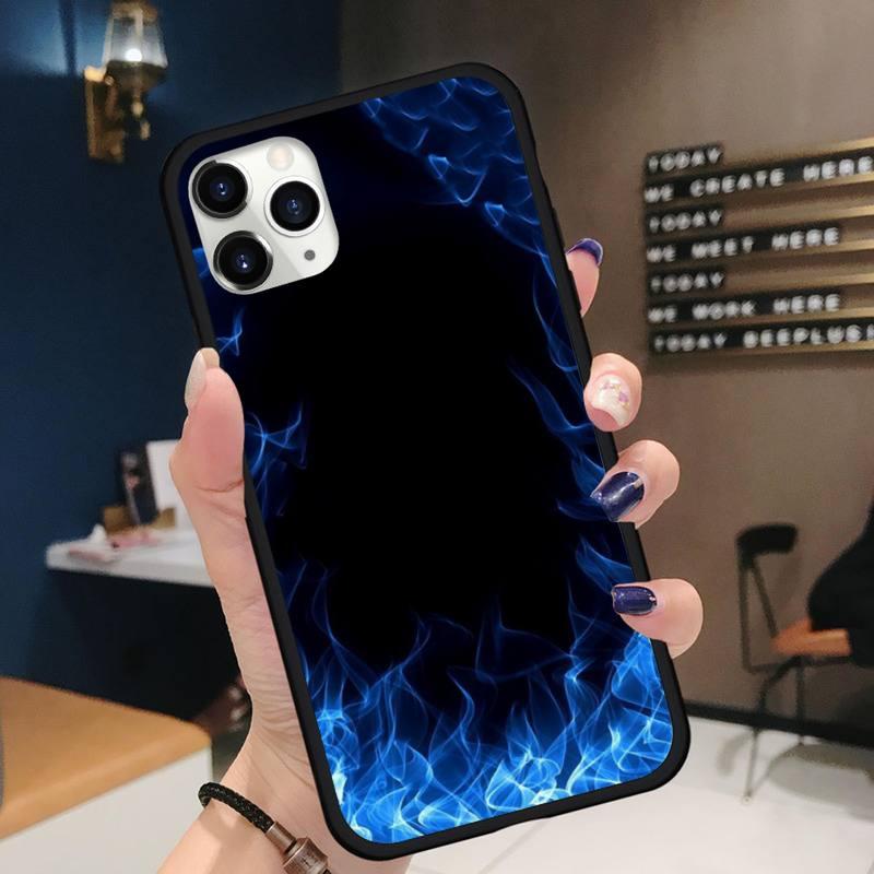 Fashion Flames Phone Case for iPhone 11 12 pro XS MAX 8 7 6 6S Plus X 5S SE 2020 XR mini Funda