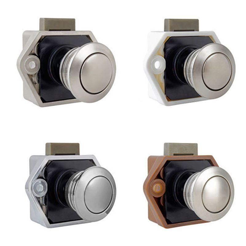 Diameter 20mm Camper Car Push Lock RV Caravan Boat Drawer Latch Button Locks For Furniture Hardware U90C