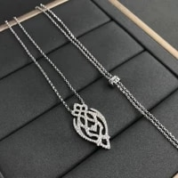 s925 sterling silver january new product arabesque necklace female fashion temperament advanced simple jewelry